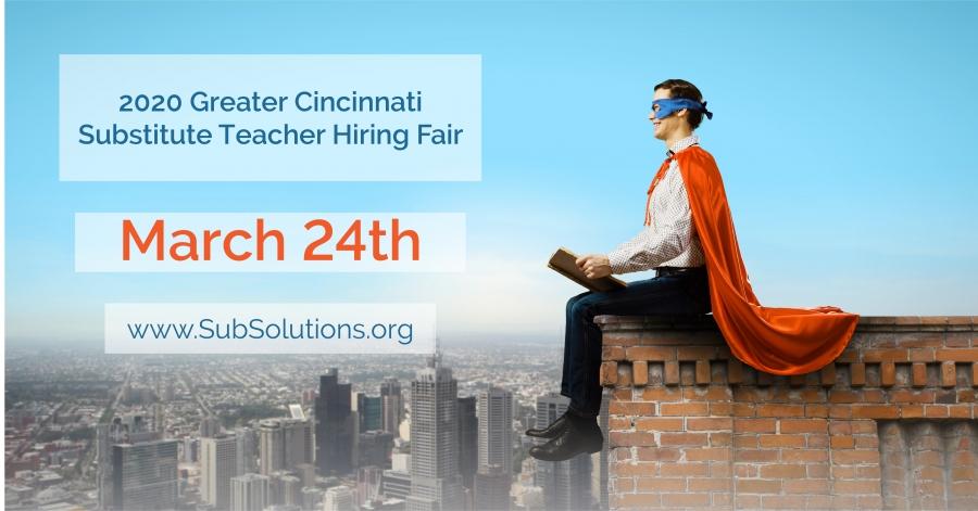 Substitute Teacher Hiring Fair on March 24th, 2020